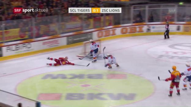 Video «SCL Tigers - ZSC Lions: Das 1. Drittel» abspielen