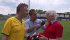 Video «Reto Scherrer stellt der Trainer-Legende die Wette vor» abspielen