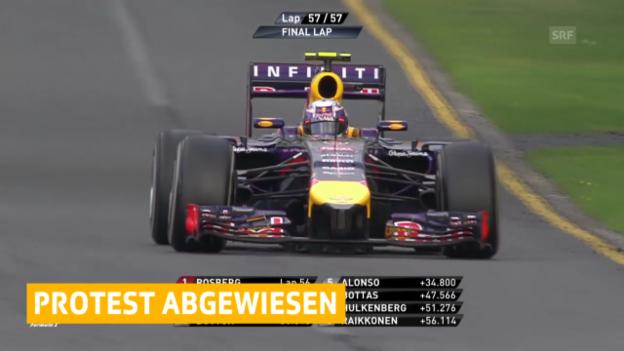 Video «Formel 1: Einspruch von Red Bull zurückgewiesen» abspielen