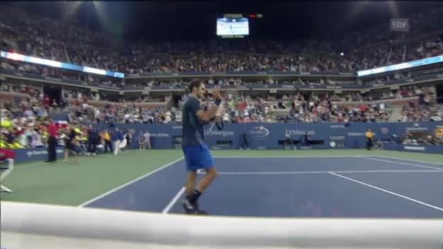 Video «Tennis: Entscheidende Punkte Federer - Mannarino («sportlive»)» abspielen