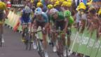 Video «Erste Pyrenäen-Etappe an der Tour de Francev» abspielen