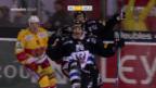 Video «Fribourg qualifiziert sich dank Sieg über Biel für die Playoffs» abspielen