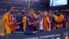 Video «Barcelona gewinnt «Clasico» im Exil» abspielen