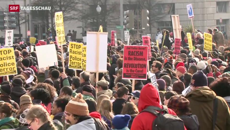 Protestmarsch gegen Polizeigewalt