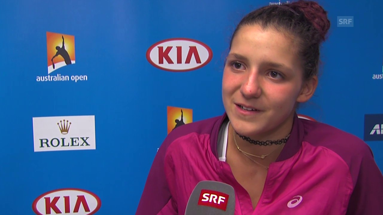 Juniorin Rebeca Masarova nach ihrem Halbfinal-Out