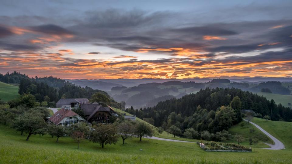 Morgenstimmung in Hasle bei Burgdorf, Tobias Messerli.