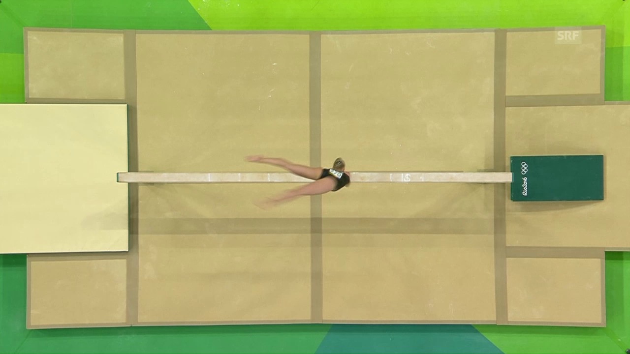 Wevers holt Olympiagold am Balken