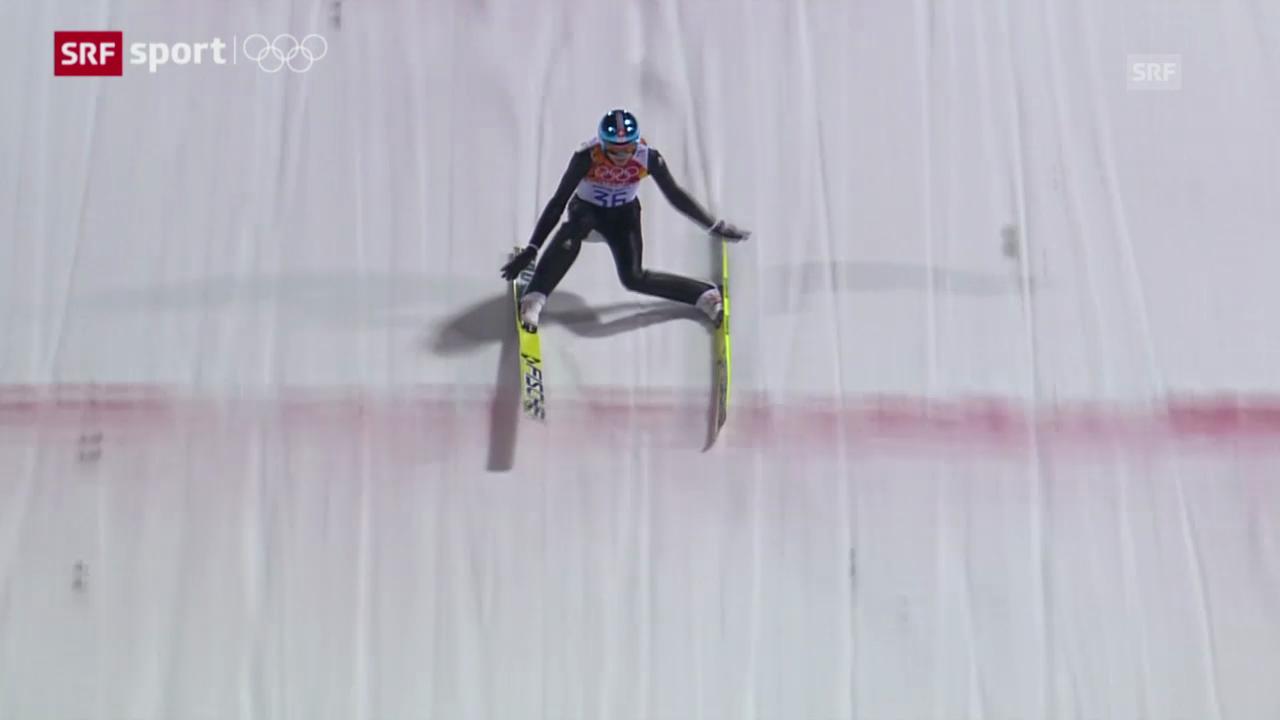 Skispringen: Qualifikation Normalschanze («sotschi aktuell», 8.2.2014)