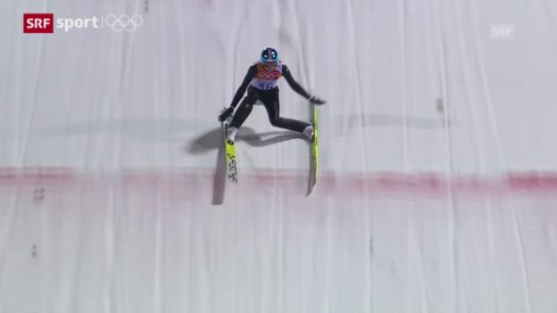 Video «Skispringen: Qualifikation Normalschanze («sotschi aktuell», 8.2.2014)» abspielen