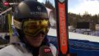 Video «Fabienne Suter schrammt knapp am Podest vorbei» abspielen