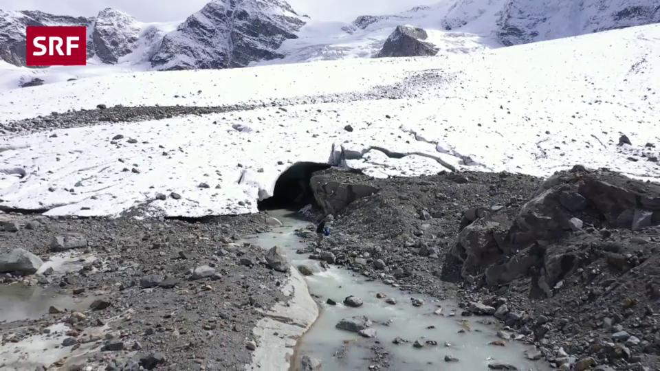 Morteratsch-Gletscher soll mit Beschneiung gerettet werden