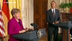Video «Angela Merkel zu Besuch bei Präsident Obama» abspielen