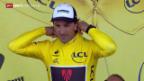 Video «Rad: Tour de France, 2. Etappe, Cancellara in Gelb» abspielen
