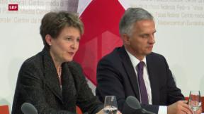 Video «Bundesrat zur Umsetzung der Masseneinwanderungsinitiative» abspielen