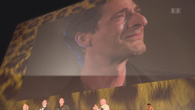 Video «Adrien Brody, emotionaler Preisträger in Locarno» abspielen