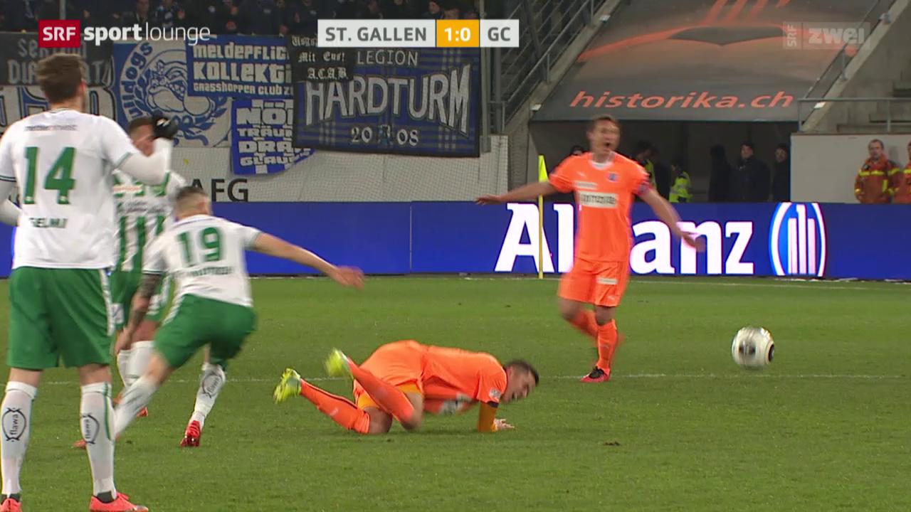 St. Gallen besiegt GC trotz Unterzahl