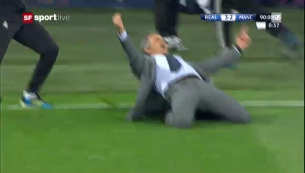Video «Mourinho-Jubel nach Real-Sieg» abspielen