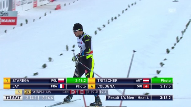 Video «Langlauf: Sprints Tschierv, Viertelfinal Gianluca Cologna» abspielen
