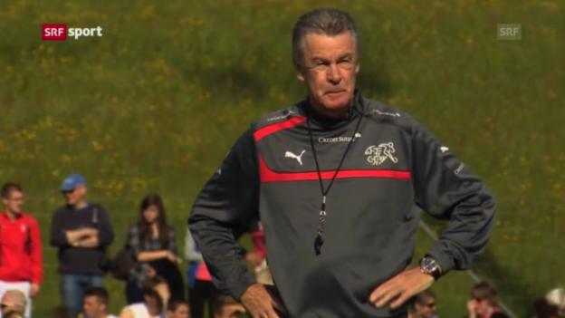 Video «Fussball: Die Schweizer Nati vor dem Zypern-Spiel» abspielen