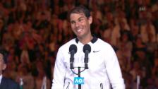 Video «Nadal zeigt Grösse in der Niederlage» abspielen