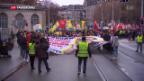 Video «Schweizer Kurden demonstrieren gegen Verhaftungswelle in der Türkei» abspielen