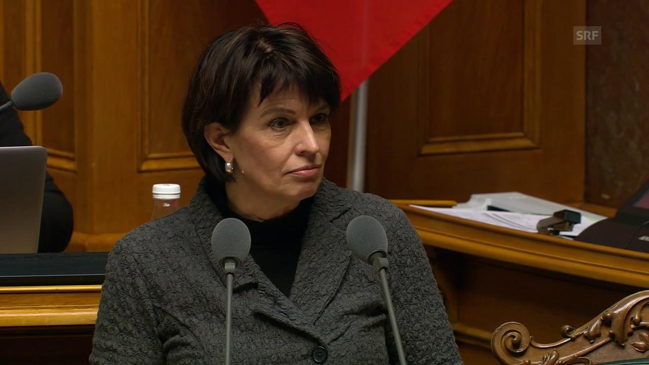 Bundesrätin Leuthard: «Die Post hält die Kriterien ein»