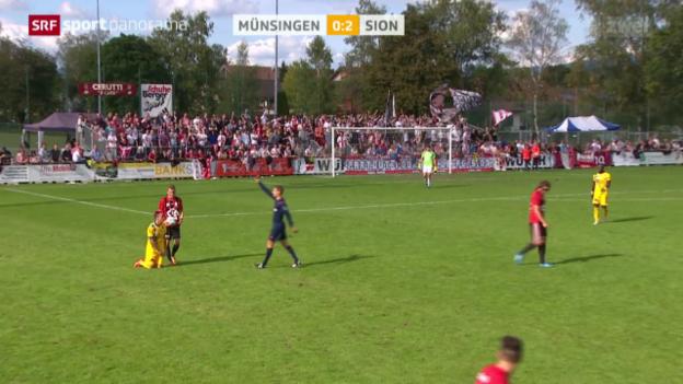 Video «Fussball: Cup, Martin Zeman sieht die rote Karte» abspielen