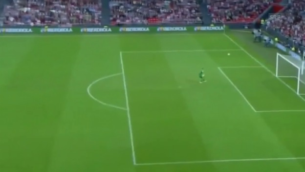 Video «Fussball: Supercup Spanien, Ter Stegen Flop» abspielen