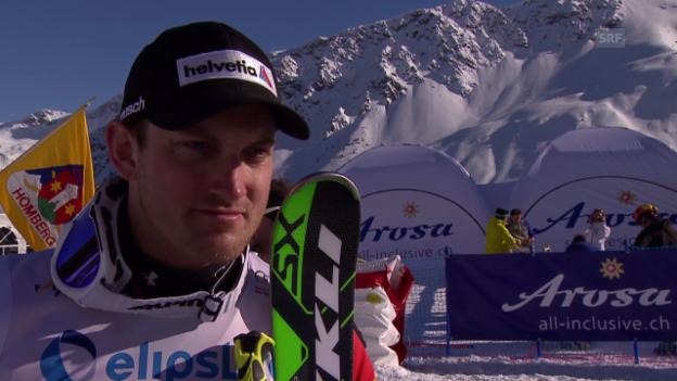 Video «Skicross: Weltcup Arosa, Interview mit Alex Fiva (7.3.2014)» abspielen