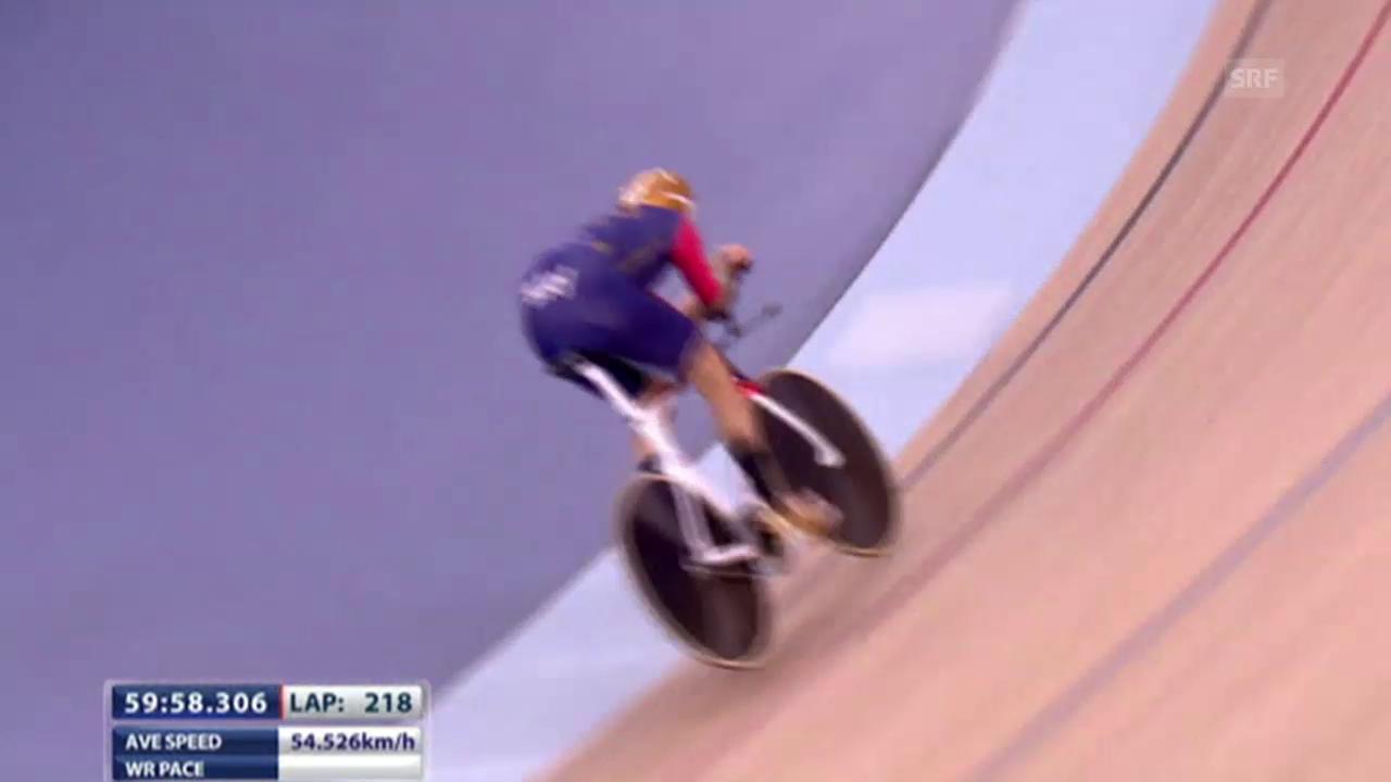 Rad: Stundenweltrekord von Sir Bradley Wiggins