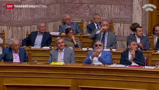 Video «Griechisches Parlament billigt zweites Reformpaket» abspielen