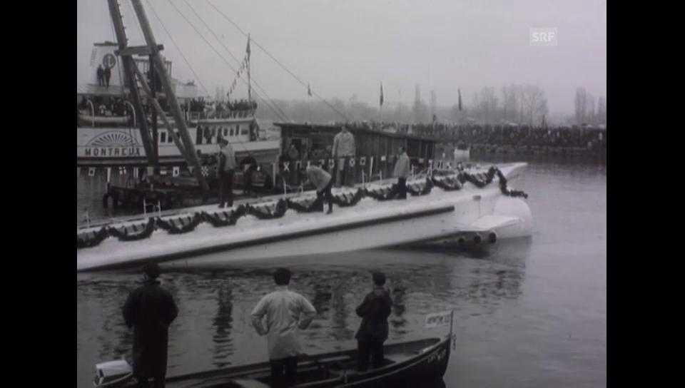Die Taufe und der Stapellauf - 06.03.1964 Schweizer Filmwochenschau