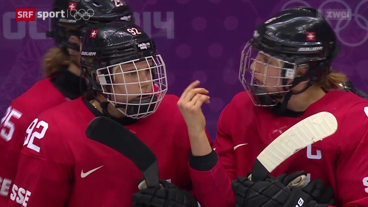 Eishockey Frauen: Bronzespiel Schweiz - Schweden