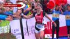 Video «Schweizer Doppelsieg beim Duathlon in Zofingen» abspielen