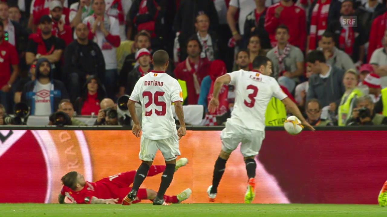 Sevilla kann sich erneut beim Schiedsrichter bedanken