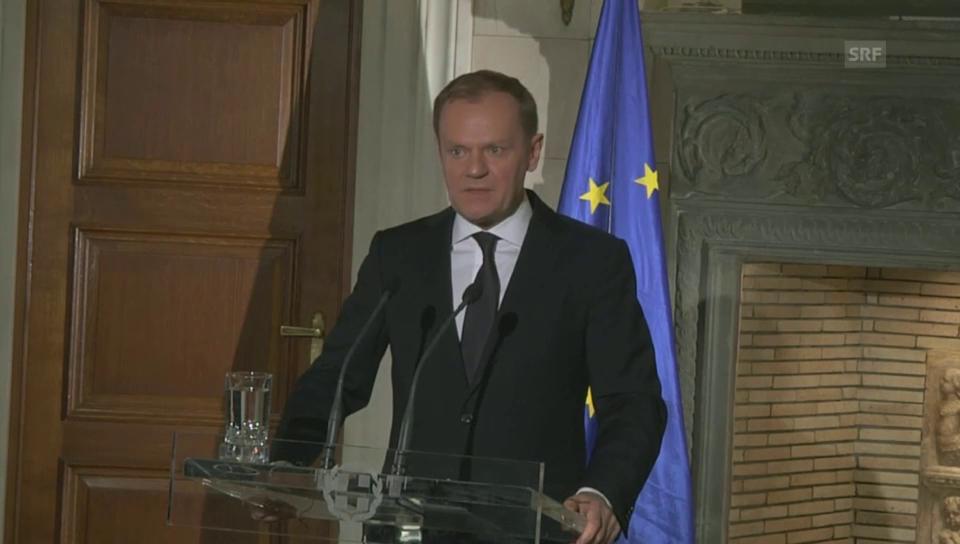 Tusk: «Riskieren Sie nicht Ihr Leben»