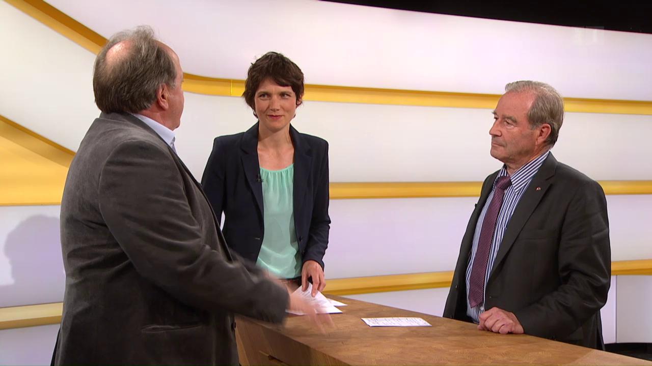 Studiogespräch mit Maximilian Reimann, Nationalrat SVP/AG und Rolf Seeger, Verkehrsmediziner