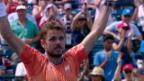 Video «Wawrinka ringt Kyrgios nieder» abspielen