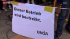Video «Streik bei Spar geht weiter» abspielen