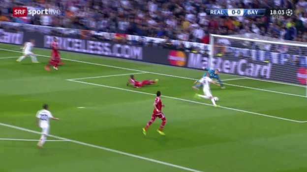 Video «Fussball: Champions League, Halbfinal-Hinspiel Real Madrid - Bayern München, Highlights» abspielen