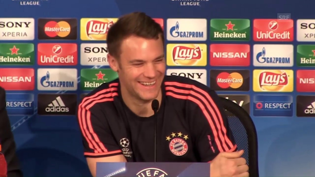 Bayern-Torhüter Manuel Neuer vor dem CL-Viertelfinal-Hinspiel gegen Benfica Lissabon