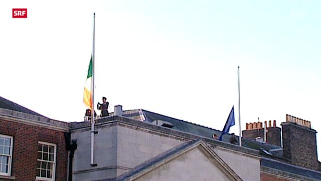 Brüssel hisst die Irland-Flagge