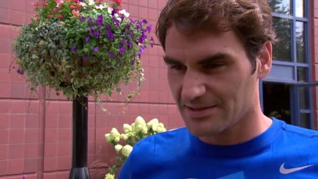 Video «Tennis: Roger Federer vor den US Open im Interview» abspielen