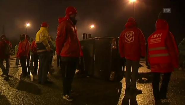 Video «Streik in Belgien (unkommentiert)» abspielen
