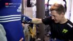 Video «Moto-2-Fahrer Dominique Aegerter sammelt Geld» abspielen