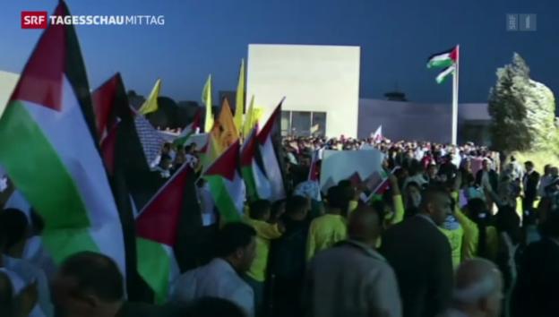 Video «Gedenkmarsch Jassir Arafat» abspielen