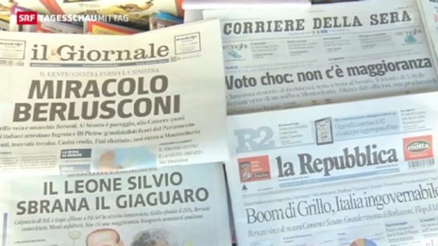 Video «Patt nach den Wahlen in Italien» abspielen