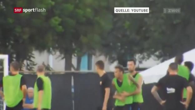 Video «Neymar gerät mit Semedo aneinander» abspielen