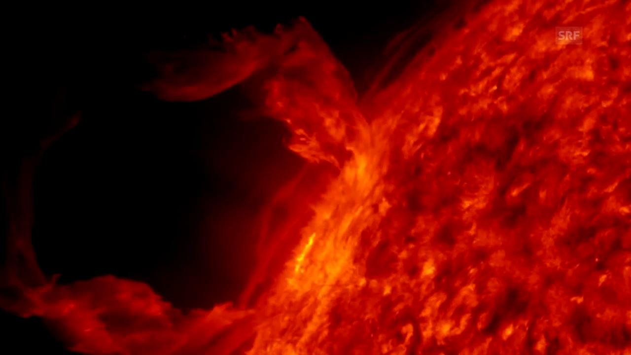 Grafik: Kernfusion in der Sonne
