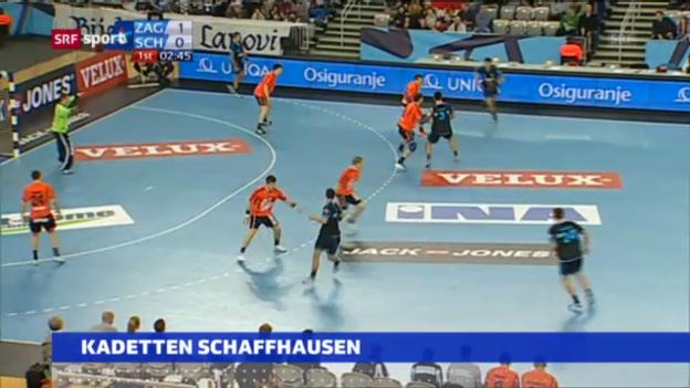 Video «Zagreb - Kadetten «sportaktuell»» abspielen
